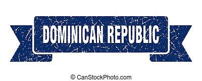 azul, dominicano, grunge, banda, ribbon., república, señal