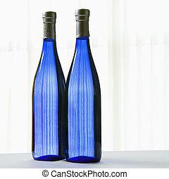 azul, dos, bottles.