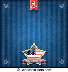 azul, dourado, estrela, vindima, cobertura, dia, independência