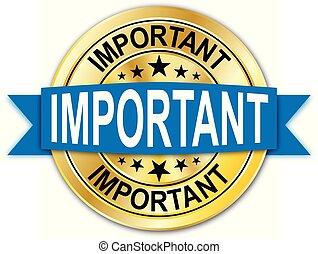 azul, dourado, teia, medalha, importante, moeda, emblema, redondo, garantia