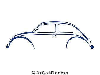 azul, dulce, automóvil, logotipo, encima, blanco