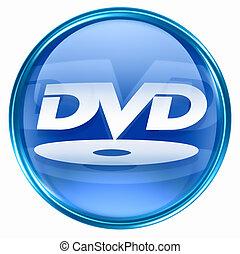 azul, dvd, icono
