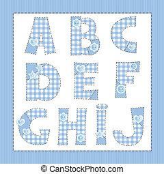 azul, e, d, cartas, tela, c, b, j, un, yo, h, alphabet., g, ...