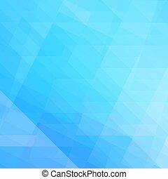 azul, elegante, abstratos, polígono, fundo
