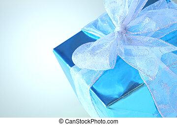 azul, elegante, cielo, presente