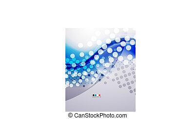 azul, empresa / negocio, moderno, onda, frío, fresco