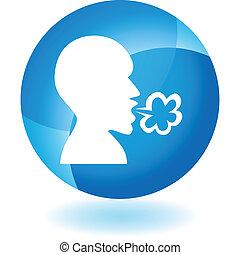 azul, enfermedad, transparente, icono