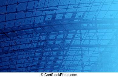 azul, engenharia, fundo