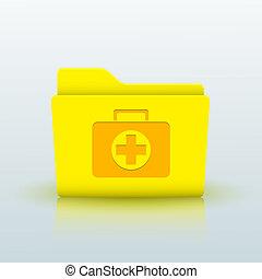 azul, eps10, amarillo, fondo., vector, carpeta