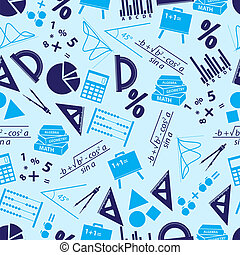 azul, eps10, iconos, patrón, seamless, matemáticas