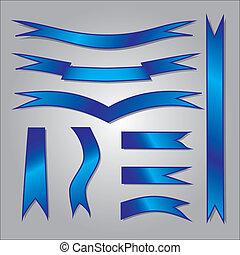 azul, eps10, jogo, fitas