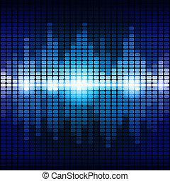azul, equalizador, experiência roxa, digital