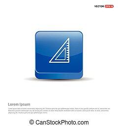 azul, escala, botão, -, ícone, 3d
