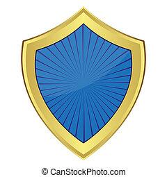 azul, escudo