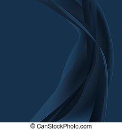 azul, escuro, abstratos, onda