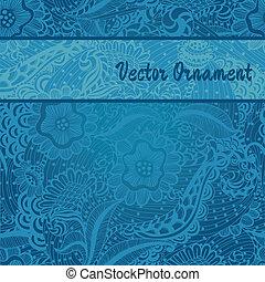 azul, espacio, texto,  seamless, Plano de fondo, patrón,  floral