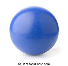 azul, espuma, dê ênfase bola