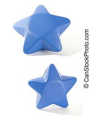 azul, espuma, estrela