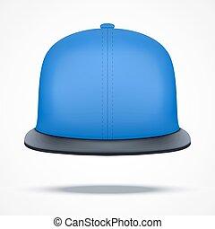 azul, esquema, cap., batida