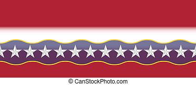 azul, estados unidos de américa, estrellas, biselado, blanco, frontera, rojo