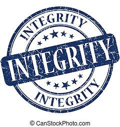 azul, estampilla, vendimia, caucho, grungy, integridad,...