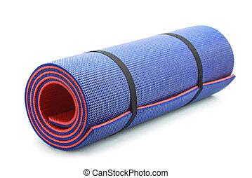 azul, esteira yoga