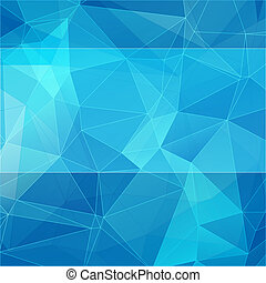 azul, estilo, abstratos, triangular, fundo