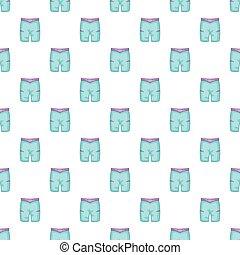 azul, estilo, calzoncillos, patrón, caricatura, natación