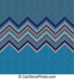 azul, estilo, pattern., seamless, amarela, tricotado, gre, étnico, geomã©´ricas
