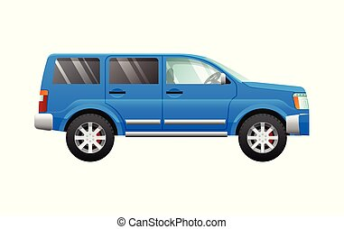 azul, estilo, simples, car, desporto, caricatura, utilidade