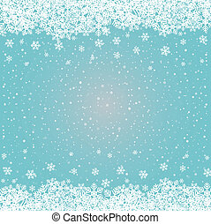 azul, estrelas, neve, fundo, snowflake branco