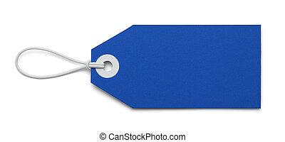 azul, etiqueta