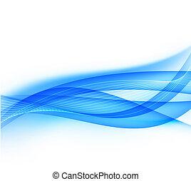 azul, experiência., abstratos