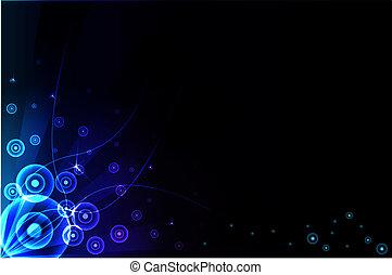 azul, experiência., abstratos, vetorial