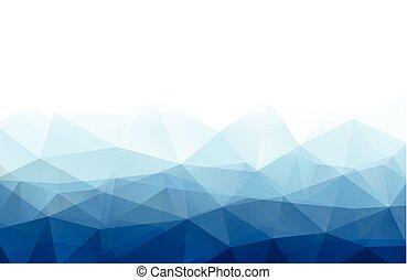 azul, experiência., branca, abstratos