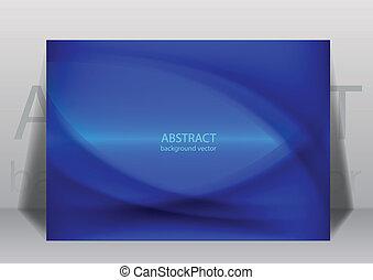 azul, experiência., linha, vetorial, illustration.