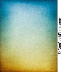azul, experiência marrom