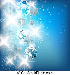 azul, experiência., natal