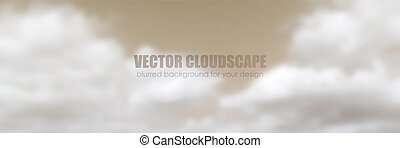 azul, experiência., vetorial, céu, clouds.