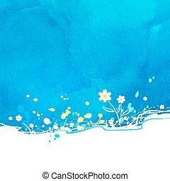 azul, experiência., vetorial