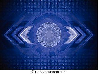 azul, Extracto, tecnología, Plano de fondo