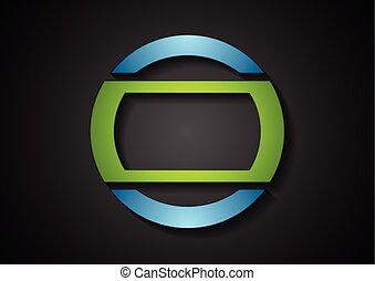 azul, Extracto, verde, logotipo, diseño, geométrico