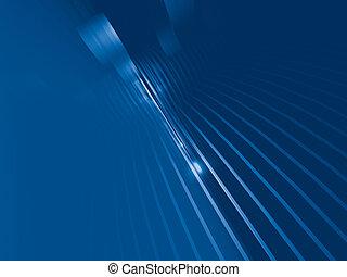 azul, fantástico, cuerdas