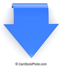 azul, flecha