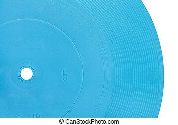 azul, flexível, disco, transparente, registro