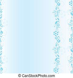 azul, floral, seamless, patrón