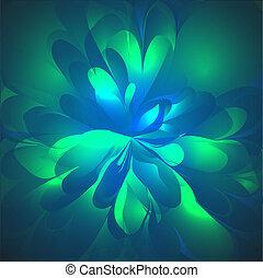 azul, floral