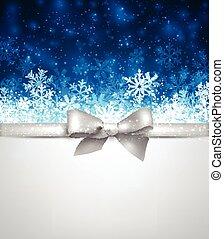 azul, fondo., invierno, navidad