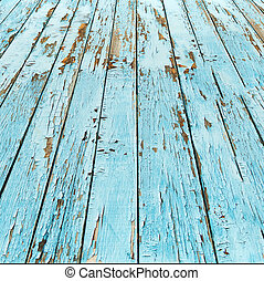 azul, fondo., madera, viejo, tablón