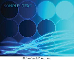 azul, fondo., resumen, vector